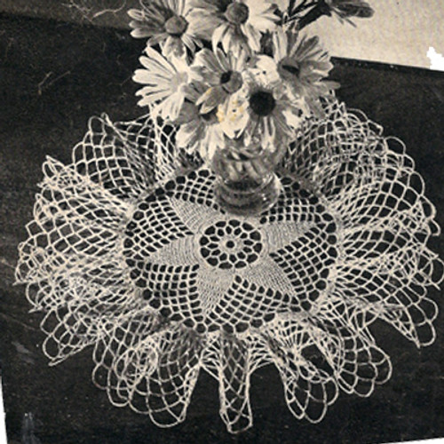Crochet Ruffled Star Doily Pattern