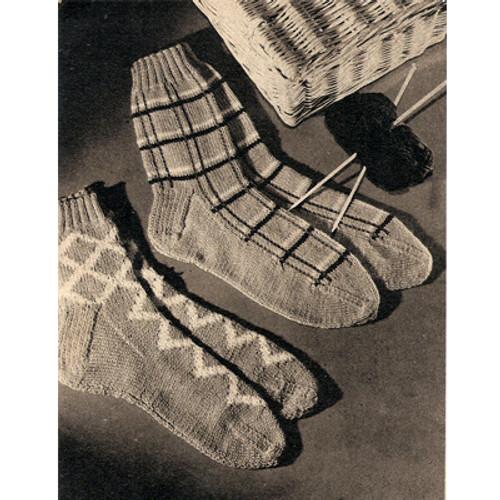 Mans Knitted Harlequin Socks Pattern