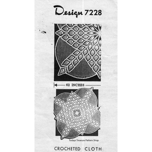 Pineapple Doily Crocheted Cloth Pattern Design 7228
