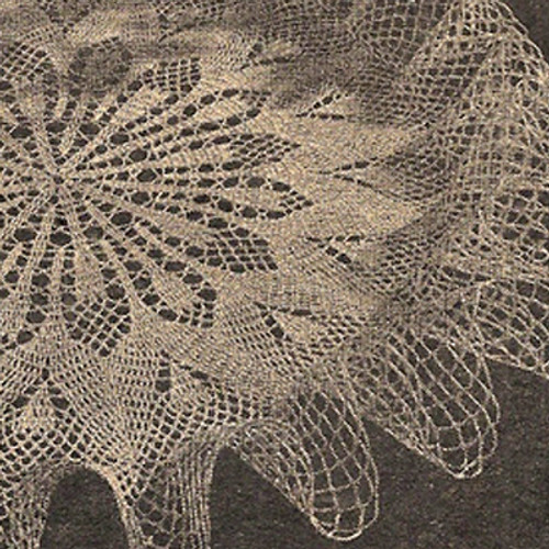 Ruffled pineapple doily crochet pattern