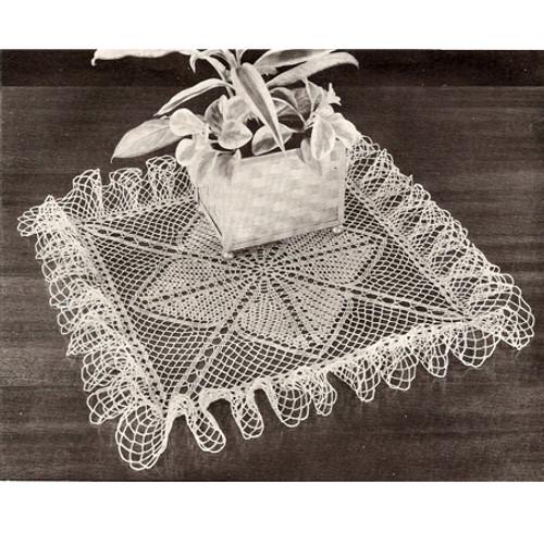 Ruffled Clover Leaf Doily Crochet Pattern