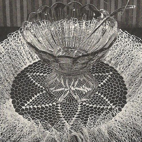 Tall Ruffled Star Doily Crochet Pattern