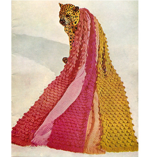 Vintage Teardrops Knitted Afghan Pattern, 1960s