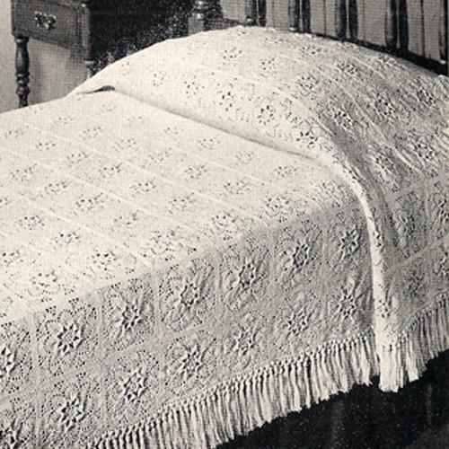 Vintage Puritan Crochet Bedspread Pattern