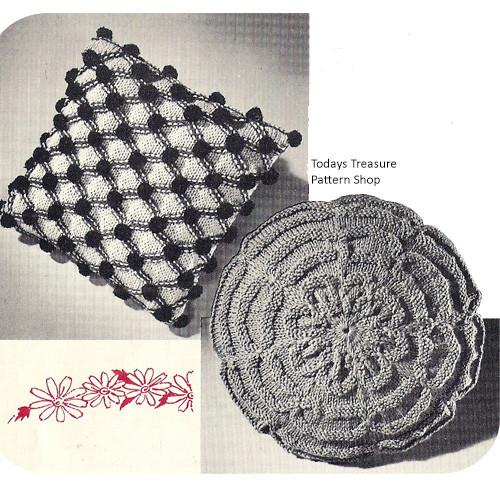 Knitting Pattern for Smocked Pillows