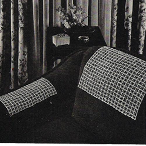 Mesh Crocheted Divan Pattern Set