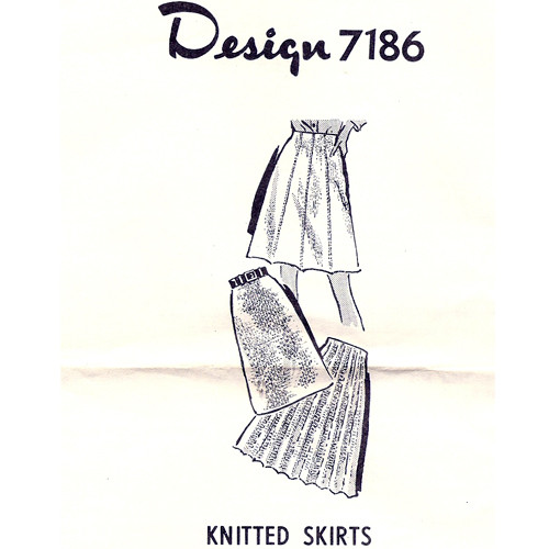 Mail Order Knitting Pattern, Straight & Pleated Skirts
