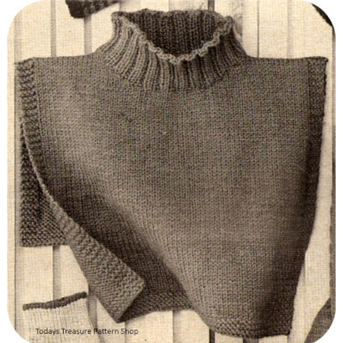 Vintage Knitted Turtleneck Dickey Pattern