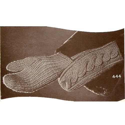 Vintage Cable Mittens Knitting Pattern