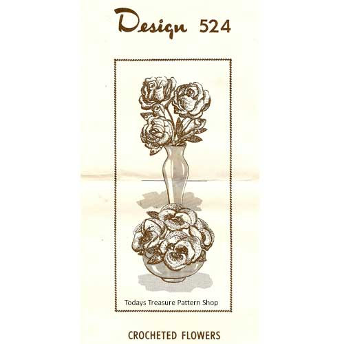 Mail Order 524, Crochet Flowers Pattern