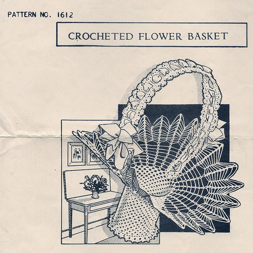 Mail Order Crochet Flower Basket Pattern