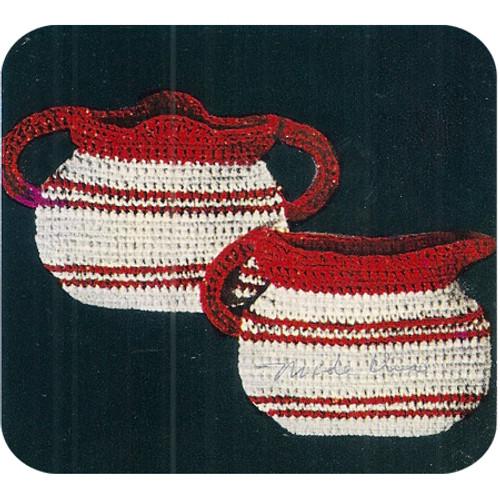 Vintage Sugar & Cream Crochet Potholders Pattern
