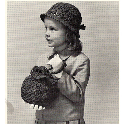 Girls Hat and Bag Crochet Pattern