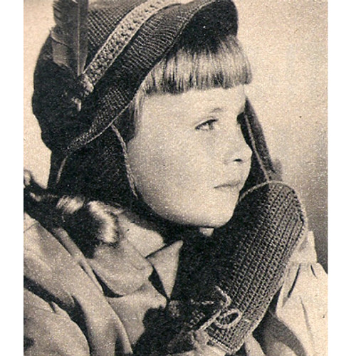 Girls Crochet Cloche & Mittens Pattern