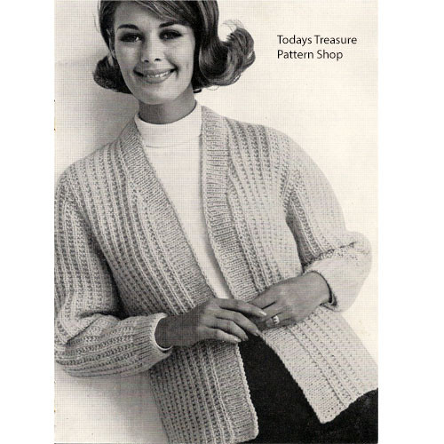 Plus Size Knitted Cardigan Pattern, Buttonless