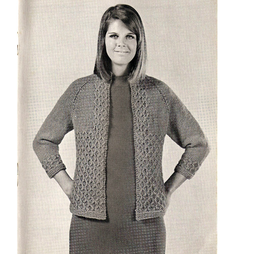 Easy Knitted Jacket Pattern, Hip Length