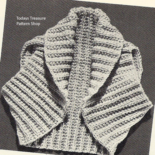 Ribbed Shrug Knitting Pattern