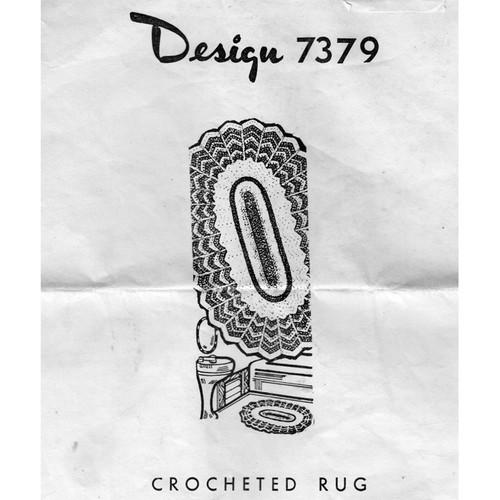 Alice Brooks 7379 Crocheted Oval Rug Pattern