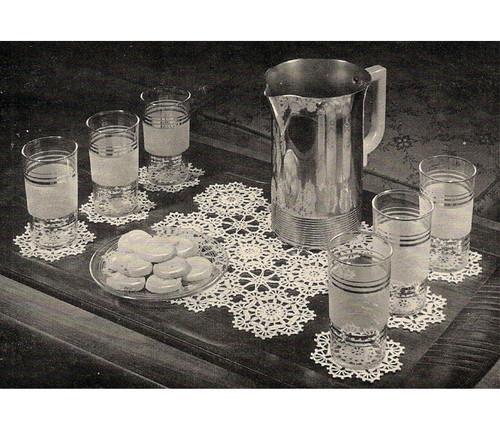 Crochet Coaster Glass Mats Pattern