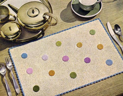 Crocheted Polka Dot Mats Pattern
