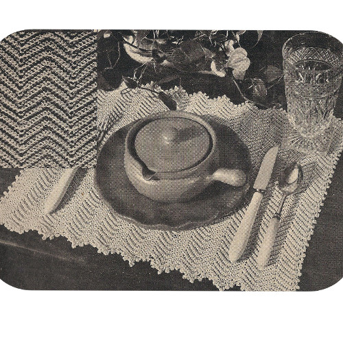 Crochet Chevron Stripe Place Mats Pattern