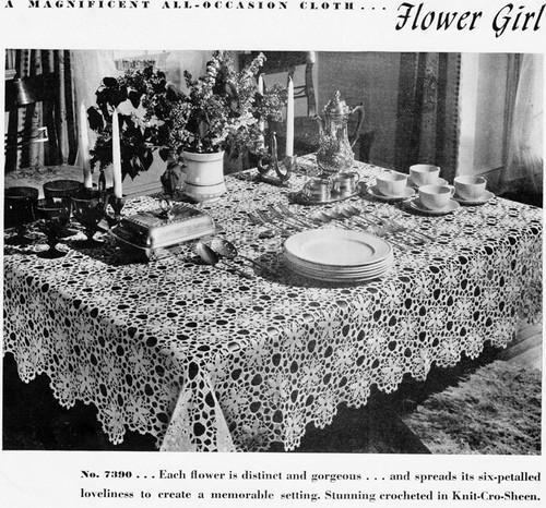 Crocheted Flower Girl Medallion Tablecloth Pattern