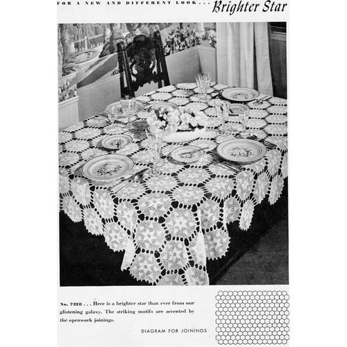 Crochet Brighter Star Medallion Tablecloth Pattern