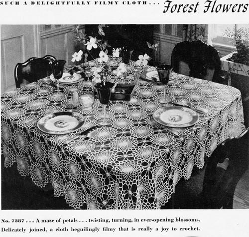 Crochet Round Flower Medallion Tablecloth Pattern