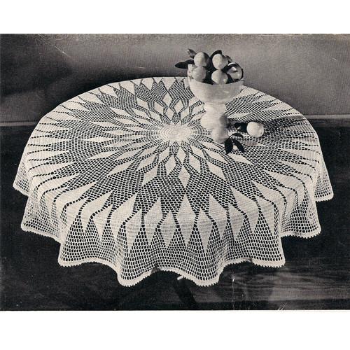 Big Round Crochet Tablecloth Pattern