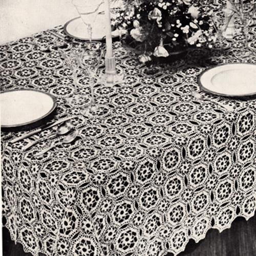 Crochet Tudor Crochet Tablecloth Pattern