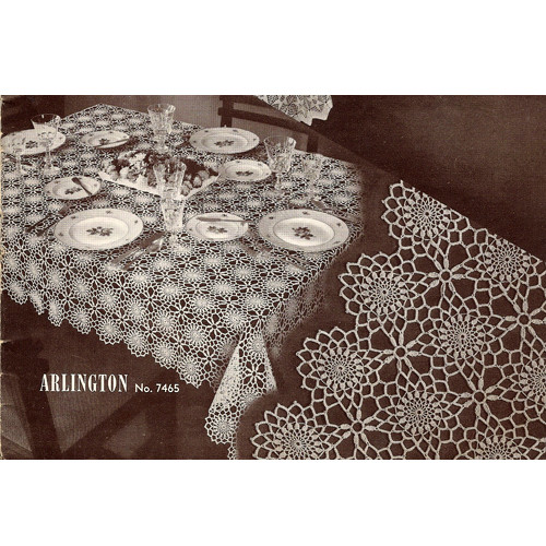 Vintage Arlington Crochet Tablecloth pattern