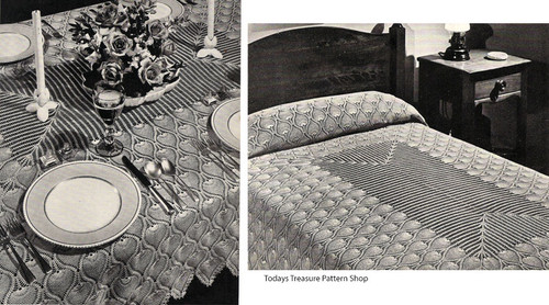 Crochet Pineapple Crochet Pattern, Tablecloth, Bedspread, Runners