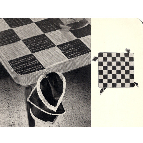 Free Bridge Cloth Pattern in Checkerboard