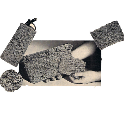 Crochet Eyeglasses Case Pattern, Vintage 1950s