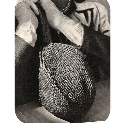 Vintage Oval Crochet Handbag Pattern