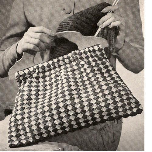 Crochet Checked Utility Bag Pattern