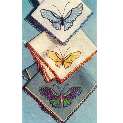 Crochet Butterfly Insertion & Edging Pattern