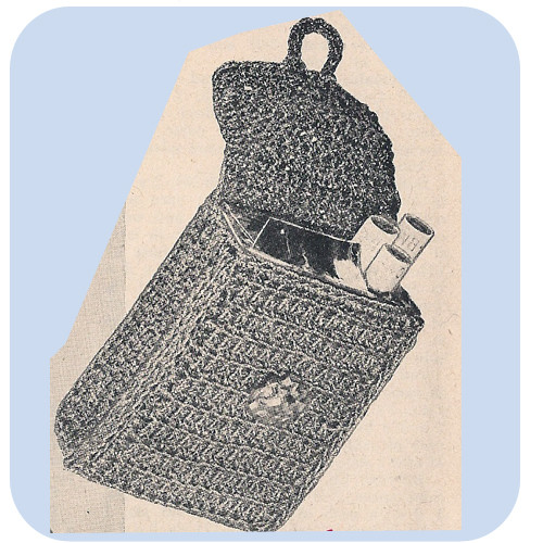 Crochet Cigarette Case Pattern, Vintage 1940s