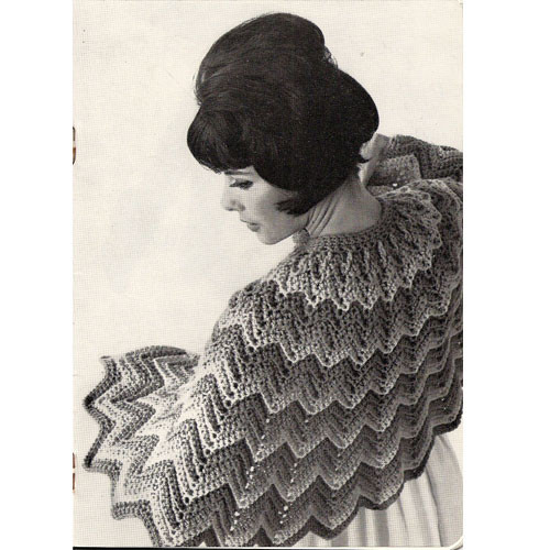 Waist Length Crochet Ripple Cape Pattern