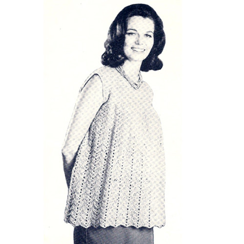 Crochet Maternity Shell Pattern with Chevron Motif