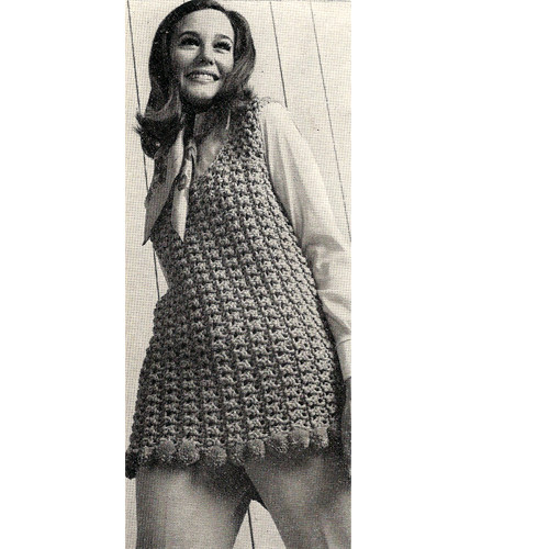Easy Crochet Sleeveless Tunic Pattern in Rug Yarn
