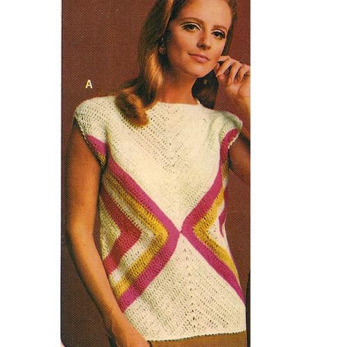 Crochet Short Sleeve Pullover Blouse Pattern