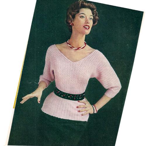 Crochet Dolman Pullover Blouse Pattern