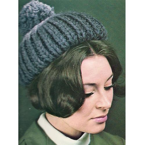 Chunky Beanie Hat Knitting Pattern with Pompom