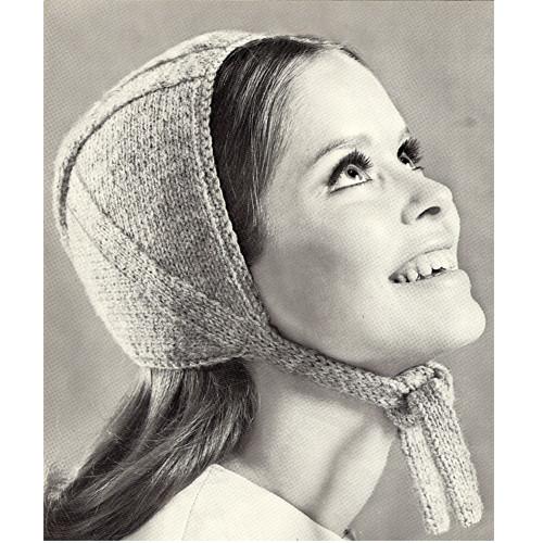 Knitting Pattern, Helmet with Neck Ties