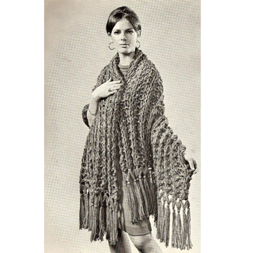 Free Big Needle Knitting Pattern, Easy Stole