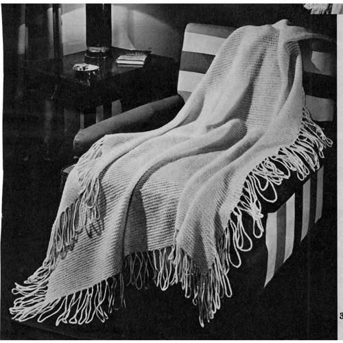 Free Knit Afghan Pattern in Garter Stitch