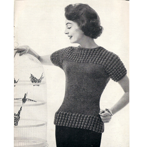 Short Sleeve Knitted Blouse Pattern