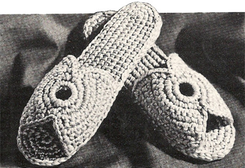Free Vintage Scuffs Crochet Pattern, Vintage 1960s