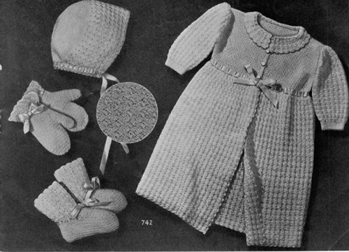 Baby Layette Crochet Pattern with Long Jacket